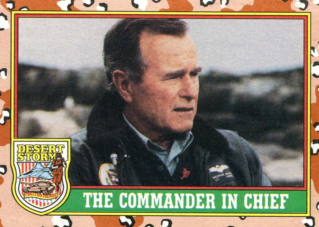 1991 Topps Desert Storm #1 Commander in Chief George Bush