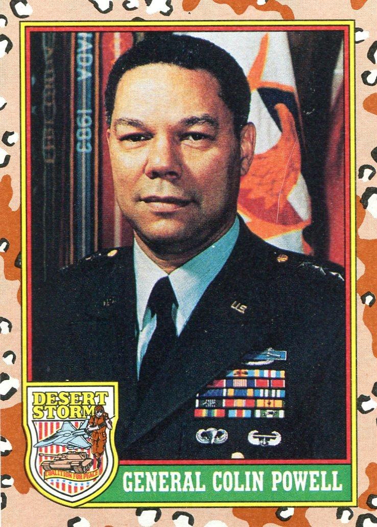 1991 Topps Desert Storm #2 General Colin Powell