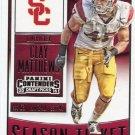 2016 Panini Contenders Football Card Draft Picks Season Ticket #23 Clay Matthews