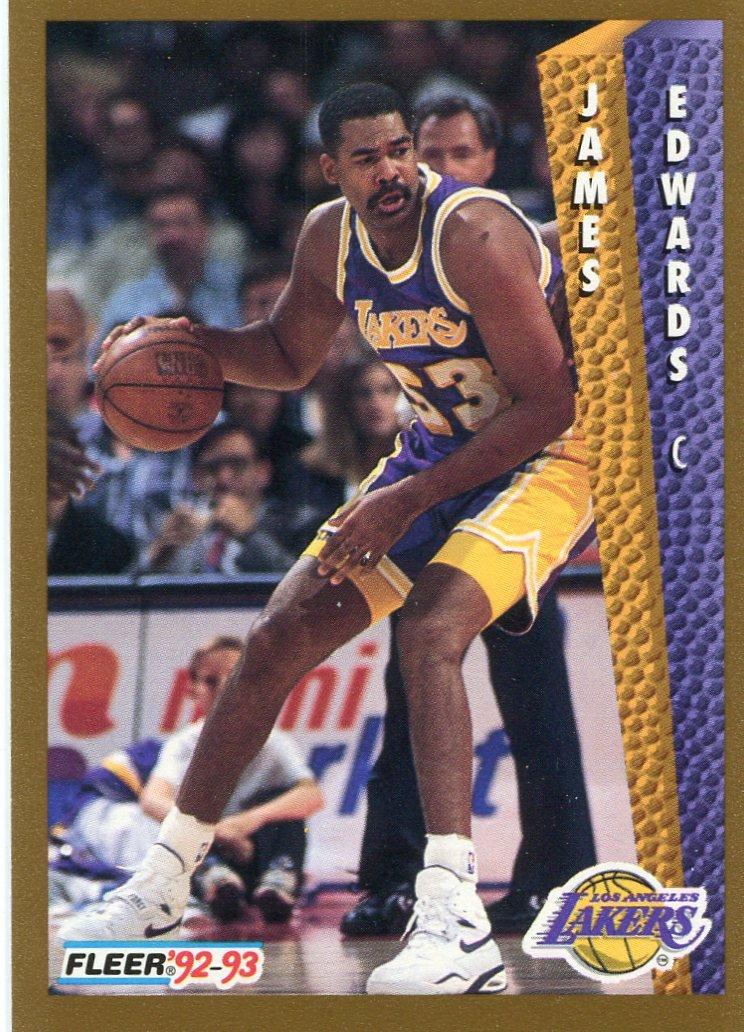1992 Fleer Basketball Card #363 James Edwards