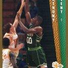 1992 Fleer Basketball Card #371 Anthony Avent