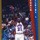 1992 Fleer Basketball Card #320 Gerald Wilkins