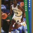 1992 Fleer Basketball Card #321 Stephen Bardo