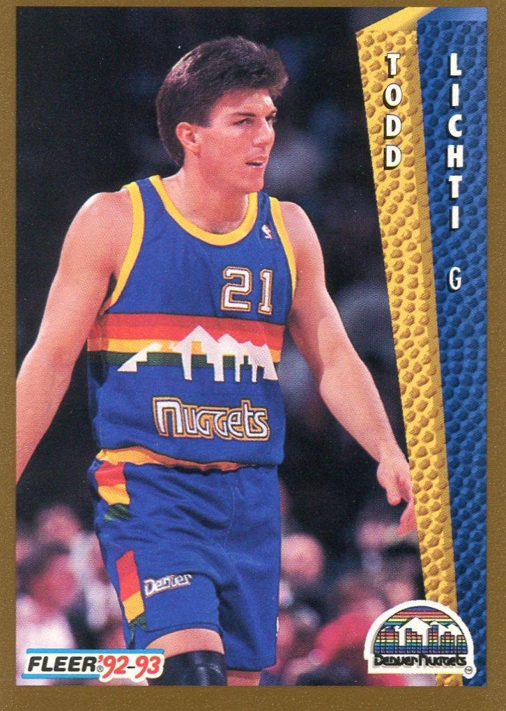 1992 Fleer Basketball Card #330 Todd Lichti