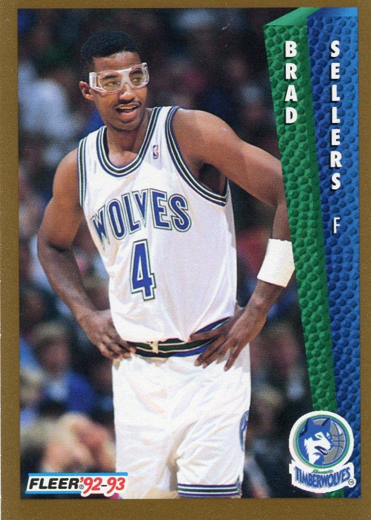 1992 Fleer Basketball Card #382 Brad Sellers