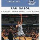 2007 Fleer Basketball Card 1961/62 #18 Pau Gasol