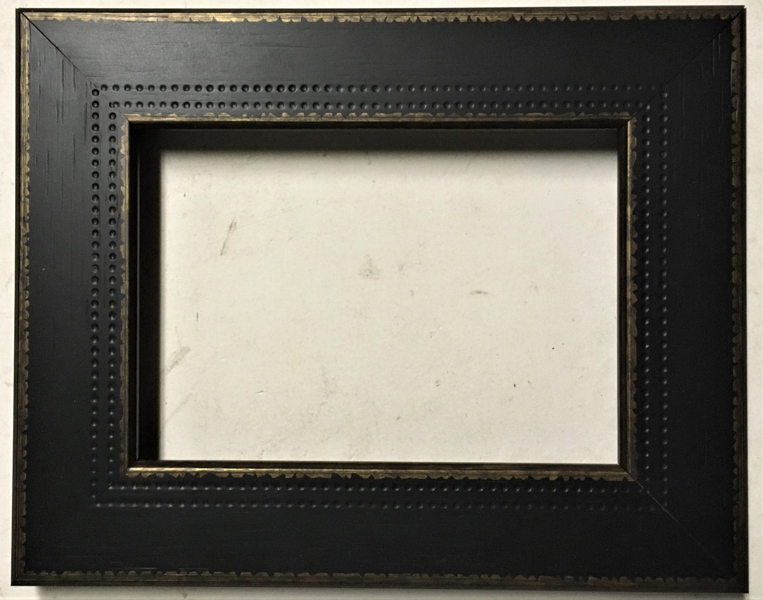 "9 x 9 1-3/4"" Black w/Gold Picture Frame"