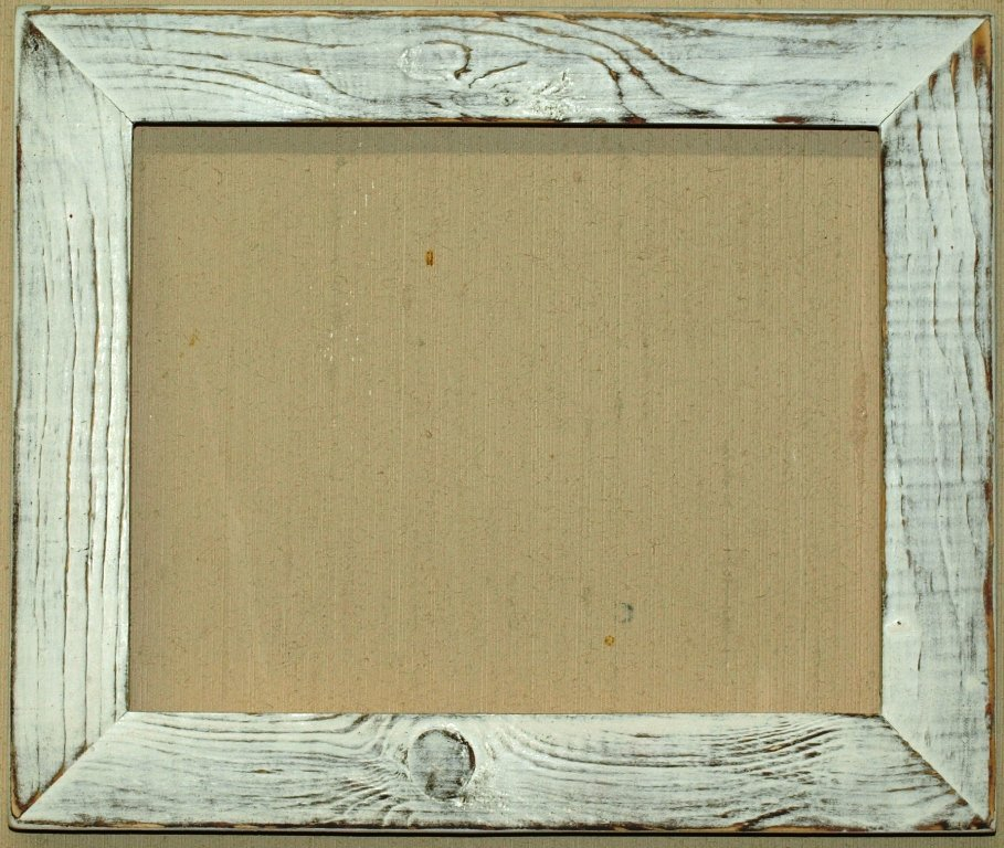 """12 x 12 1-1/2"""" Marshmallow Distressed Picture Frame"""