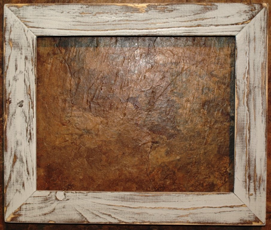 """8-1/2 x 11 1-1/2"""" White Distressed Picture Frame"""
