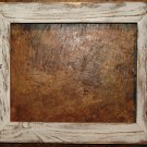 "8-1/2 x 11 1-1/2"" White Distressed Picture Frame"