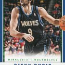 2012 Panini Basketball Card #143 Ricky Rubio