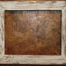 "20 x 24 1-1/2"" White Distressed Picture Frame"