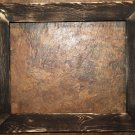 "18 x 18 1-1/2"" Black Distressed Picture Frame"