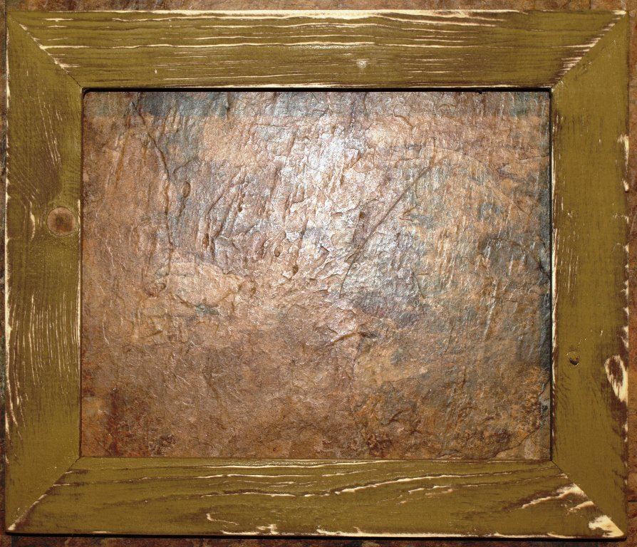 """9 x 9 1-1/2"""" Gold Distressed Picture Frame"""
