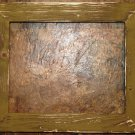 "9 x 9 1-1/2"" Gold Distressed Picture Frame"