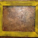 "9 x 9 1-1/2"" Yellow Distressed Picture Frame"
