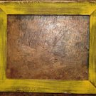 "18 x 18 1-1/2"" Yellow Distressed Picture Frame"