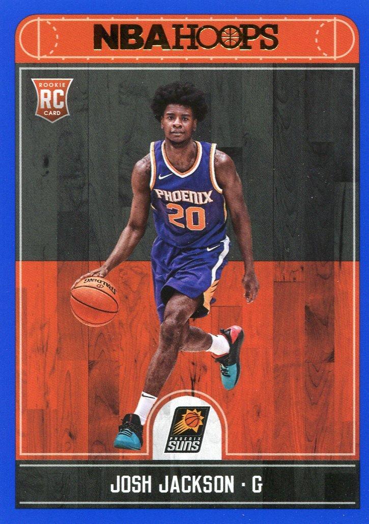 2017 Hoops Basketball Card Blue Parallel #254 Josh Jackson