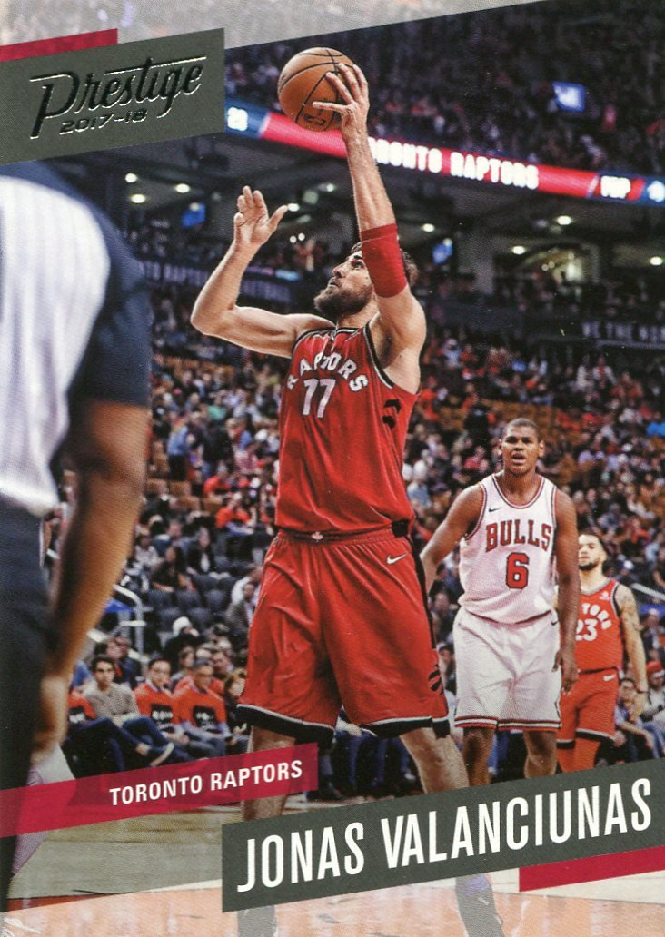 2017 Prestige Basketball Card #108 Jonas Valanciunas