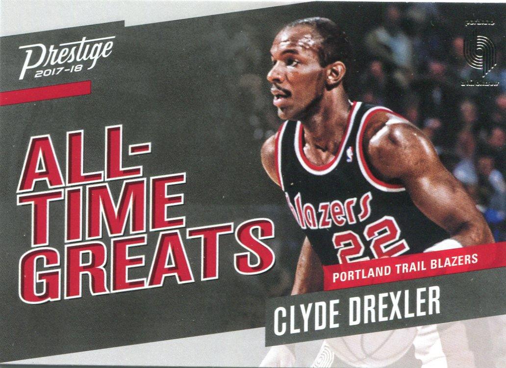 2017 Prestige Basketball Card All Time Greats #18 Clyde Drexler