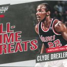 2017 Prestige Basketball Card All Time Greats #18 Clyde Drexler