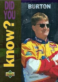 1995 Upper Deck Racing Card #168 Jeff Burton