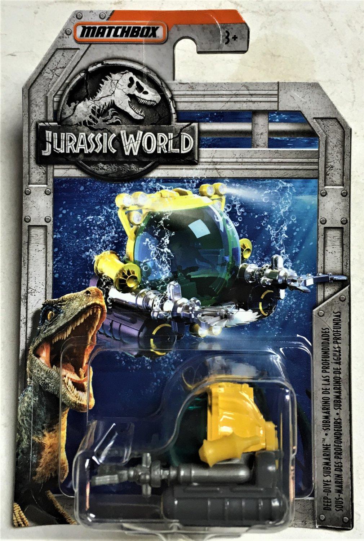 2018 Matchbox Jurassic World #FMX07 Deep Dive Submarine