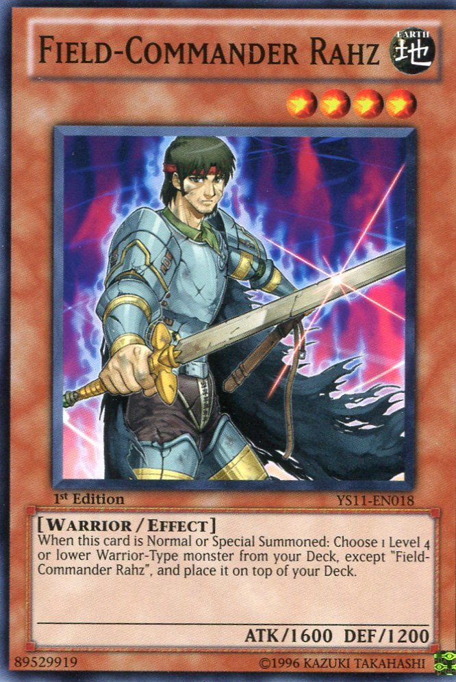 Yugioh - Dawn of the XYZ - Field Commander Rahz - YS11-EN018
