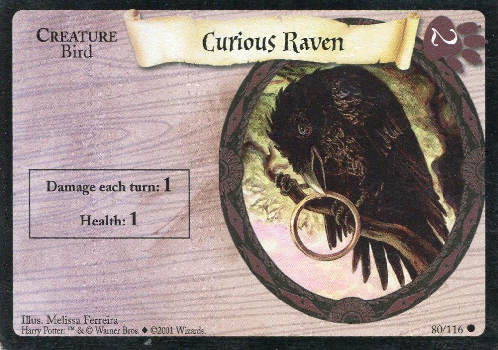 2001 Harry Potter Card #80 Curious Raven