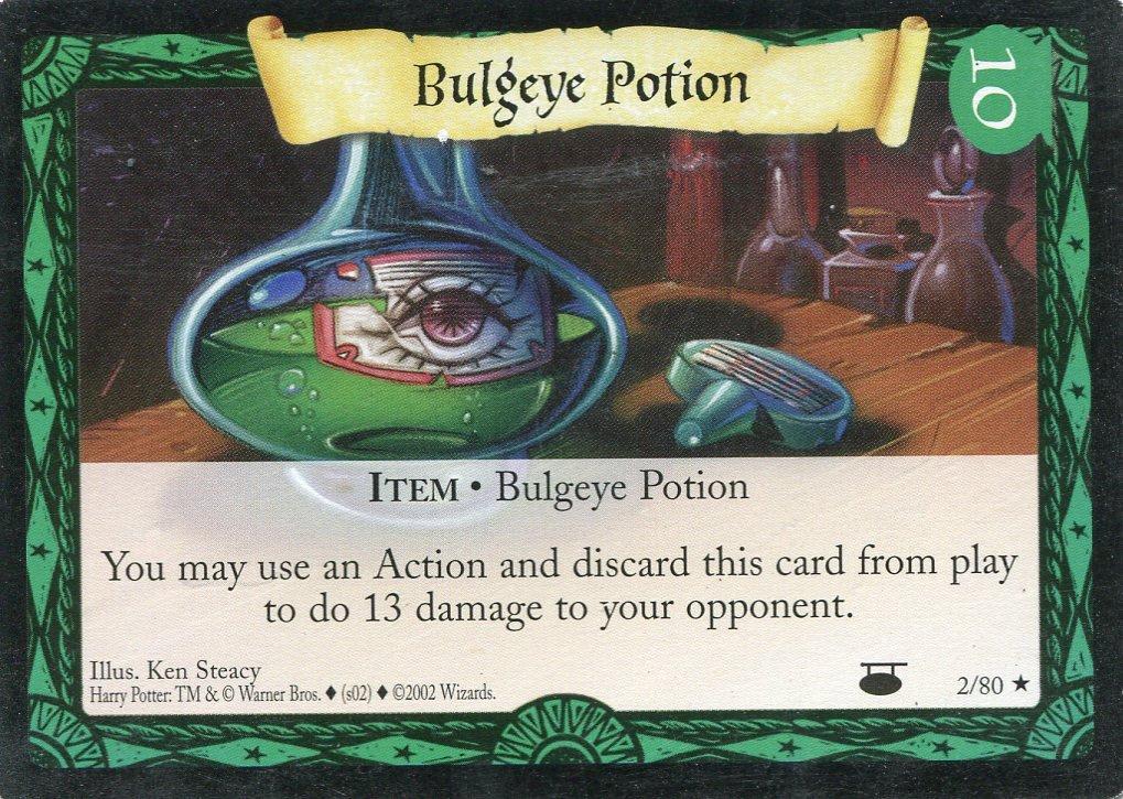 2001 Harry Potter Card #D002 Bulgeye Potion