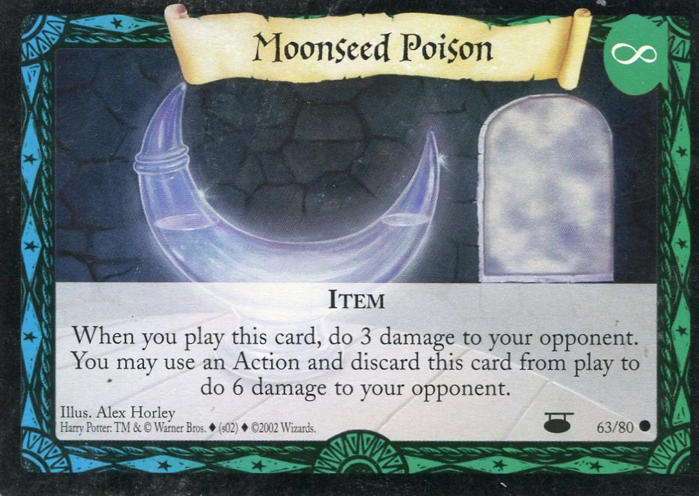 2001 Harry Potter Card #D063 Moonseed Potion