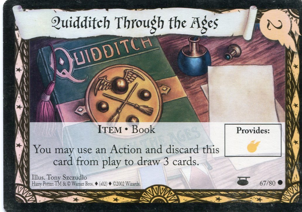 2001 Harry Potter Card #D067 Quidditch Through The Ages