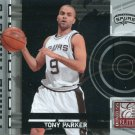 2009 Donruss Elite Basketball Card Prime Targets #15 Tony Parker