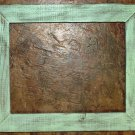 "6 x 6 1-1/2"" Mint Distressed Picture Frame"