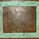 "14 x 18 1-1/2"" Mint Distressed Picture Frame"