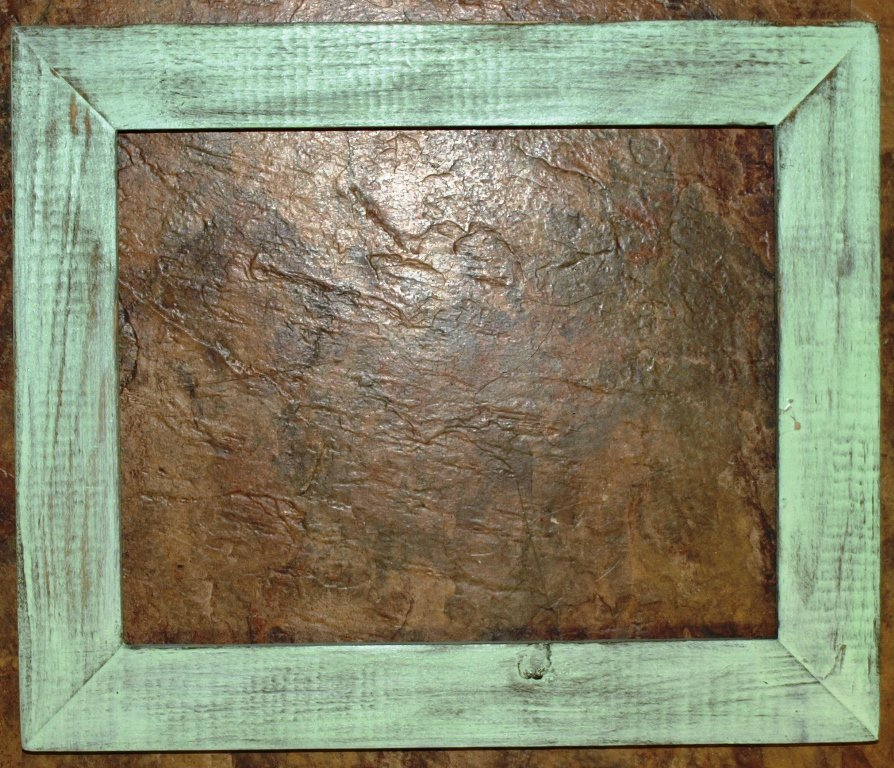 "18 x 18 1-1/2"" Mint Distressed Picture Frame"