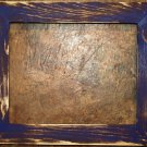 "8 x 8 1-1/2"" Purple Distressed Picture Frame"