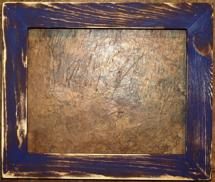 """12 x 12 1-1/2"""" Purple Distressed Picture Frame"""
