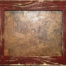 "9 x 9 1-1/2"" Crimson Distressed Picture Frame"