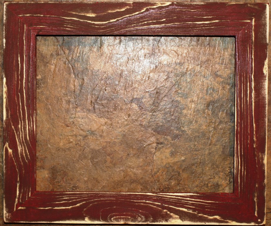 "12 x 24 1-1/2"" Crimson Distressed Picture Frame"