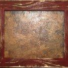 "18 x 18 1-1/2"" Crimson Distressed Picture Frame"
