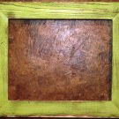 "8-1/2 x 11 1-1/2"" Pale Green Distressed Picture Frame"