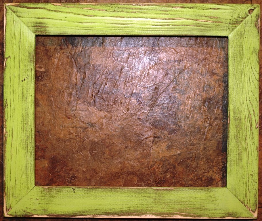 "10 x 10 1-1/2"" Pale Green Distressed Picture Frame"