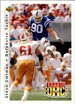 1992 Upper Deck Football Card #409 Steve Emtman