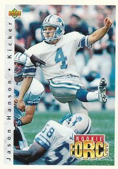 1992 Upper Deck Football Card #411 Jason Hanson