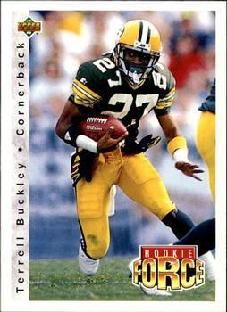 1992 Upper Deck Football Card #413 Terrell Buckley