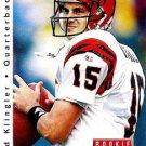 1992 Upper Deck Football Card #415 David Klingler