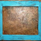 "8 x 8 1-1/2"" Teal Distressed Picture Frame"