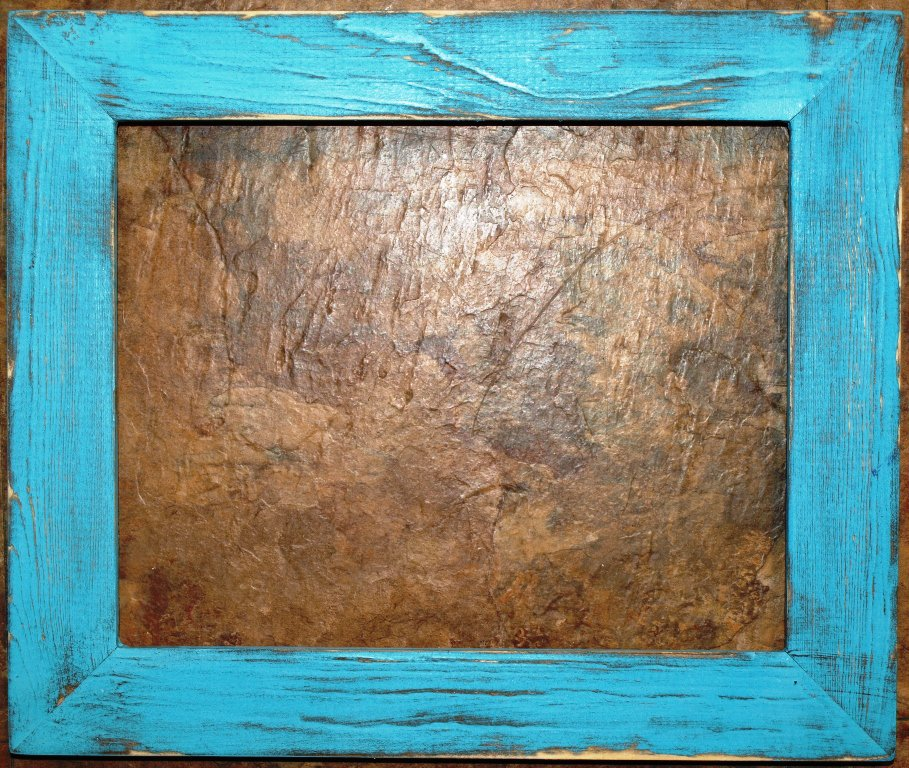 """10 x 20 1-1/2"""" Teal Distressed Picture Frame"""