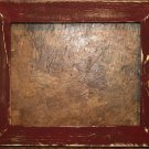 "9 x 9 1-1/2"" Maroon Distressed Picture Frame"